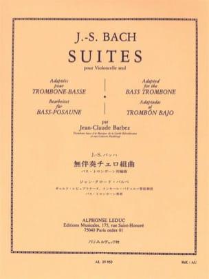 Suites Pour Violoncelle Seul BACH Partition Trombone - laflutedepan