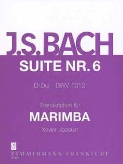 Suite N° 6 D-Dur BWV 1012 BACH Partition Marimba - laflutedepan