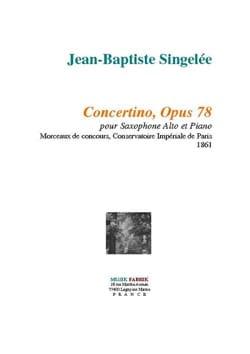 Concertino Opus 78 Jean-Baptiste Singelée Partition laflutedepan