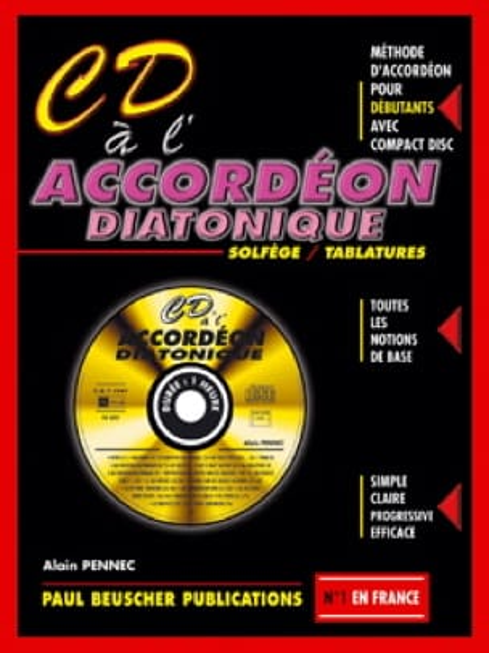 CD à l'accordéon diatonique - Alain Pennec - laflutedepan.com