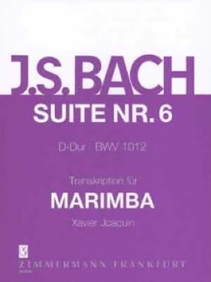 Suite N° 6 D-Dur BWV 1012 - BACH - Partition - laflutedepan.com