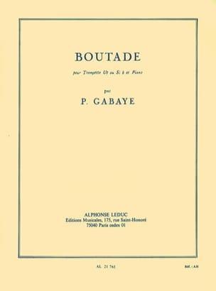 Boutade - Pierre Gabaye - Partition - Trompette - laflutedepan.com