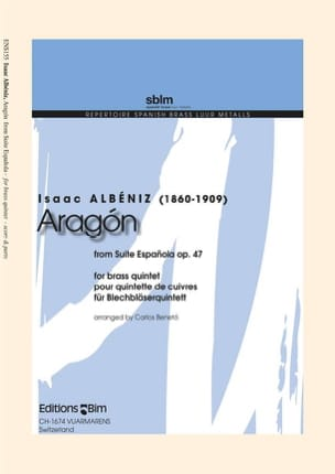 Aragon - From Suite Espagnola Opus 47 ALBENIZ Partition laflutedepan
