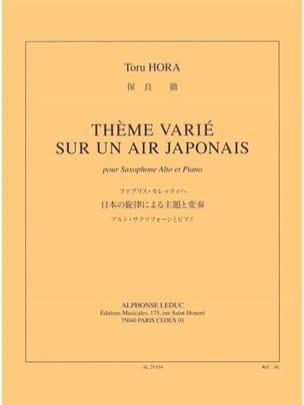 Thème Varié Sur Un Air Japonais Toru Hora Partition laflutedepan