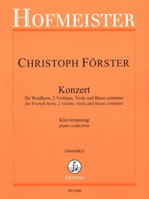 Konzert Christoph Förster Partition Cor - laflutedepan