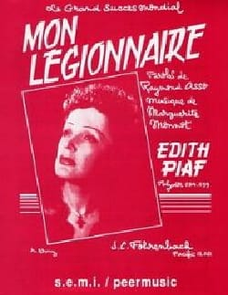 Edith Piaf - My legionary - Partition - di-arezzo.co.uk