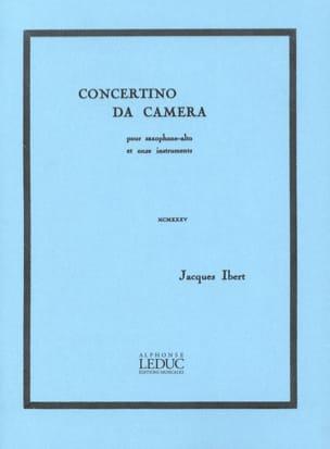Concertino Da Camera IBERT Partition Saxophone - laflutedepan