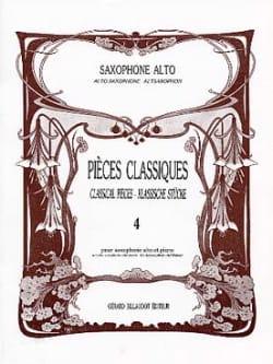 Pièces Classiques Volume 4 Partition Saxophone - laflutedepan