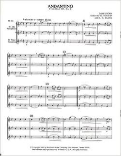Andantino James Hook Partition Saxophone - laflutedepan