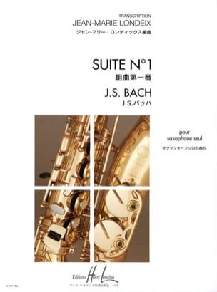 Suite N° 1 BACH Partition Saxophone - laflutedepan