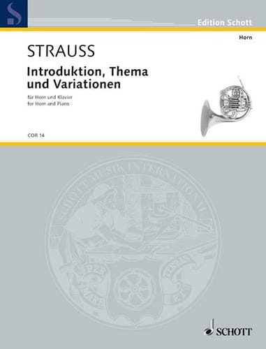Introduction, Thème Et Variations - Richard Strauss - laflutedepan.com