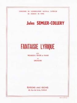 Fantaisie Lyrique Jules Semler-Collery Partition laflutedepan