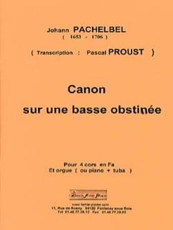 Canon sur une basse obstinée - PACHELBEL - laflutedepan.com