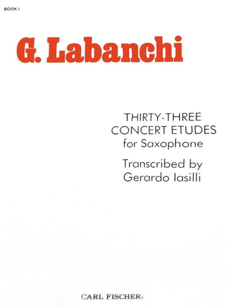 Thirty-Three Concert Etudes - Gaetano Labanchi - laflutedepan.com