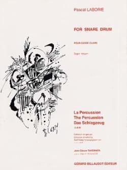 For Snare Drum Pascal Laborie Partition Caisse-claire - laflutedepan