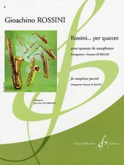 Rossini... Per Quattro ROSSINI Partition Saxophone - laflutedepan