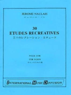 30 Etudes Récréatives - Jérôme Naulais - Partition - laflutedepan.com