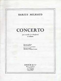Concerto MILHAUD Partition Marimba - laflutedepan