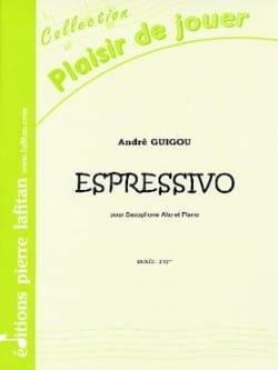 Espressivo André Guigou Partition Saxophone - laflutedepan