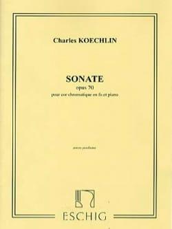 Sonate Opus 70 Charles Koechlin Partition Cor - laflutedepan