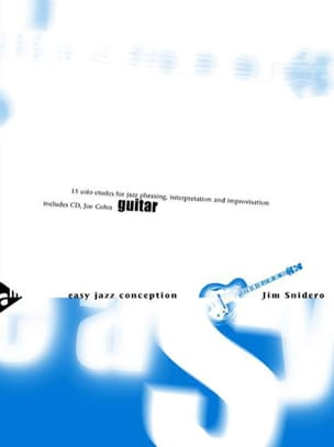 Easy Jazz Conception - 15 Solo Etudes Jim Snidero laflutedepan