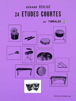 24 Etudes Courtes Volume H BERLIOZ Partition Timbales - laflutedepan