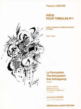 Pièce Pour Timbales N° 1 Pascal Laborie Partition laflutedepan