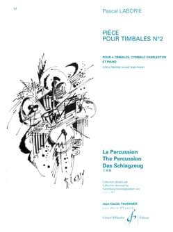 Pièce Pour Timbales N° 2 Pascal Laborie Partition laflutedepan