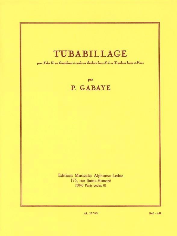 Tubabillage - Pierre Gabaye - Partition - Tuba - laflutedepan.com