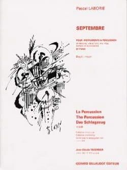 Septembre Pascal Laborie Partition Multi Percussions - laflutedepan