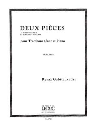 Deux Pièces Revaz Gabitchvadze Partition Trombone - laflutedepan