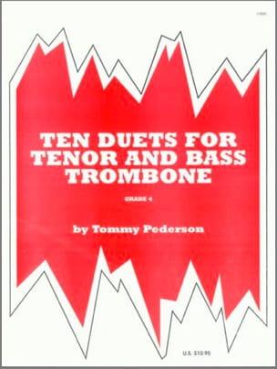 Ten 10 Duets For Tenor & Bass Trombone Tommy Pederson laflutedepan