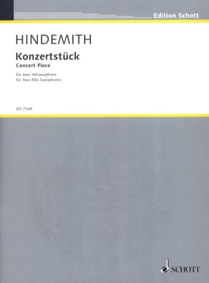 Konzertstück 1933 HINDEMITH Partition Saxophone - laflutedepan