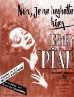 Non, je ne regrette rien - Edith Piaf - Partition - laflutedepan.com