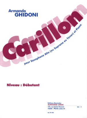 Carillon Armando Ghidoni Partition Saxophone - laflutedepan