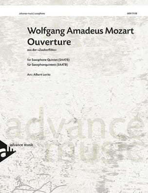 Ouverture from the opera The magic flute MOZART Partition laflutedepan