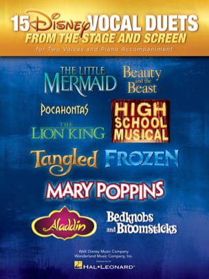 15 Disney Vocal Duets From Stage and Screen DISNEY laflutedepan