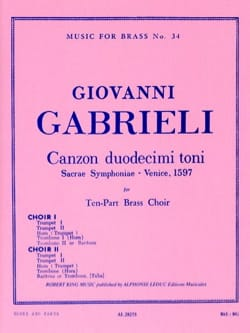 Canzon Duodecimi Toni GABRIELI Partition laflutedepan