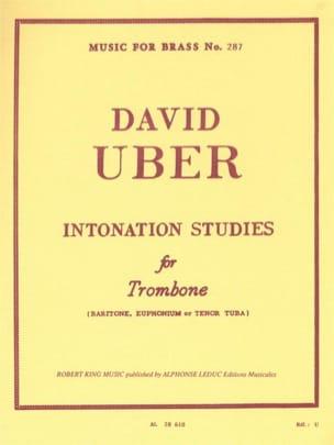 Intonation Studies David Uber Partition Trombone - laflutedepan