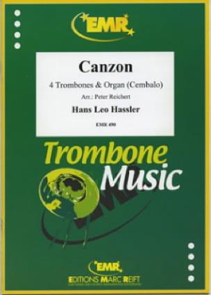 Canzon - Hans Leo Hassler - Partition - Trombone - laflutedepan.com