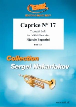 Caprice N° 17 - PAGANINI - Partition - Trompette - laflutedepan.com