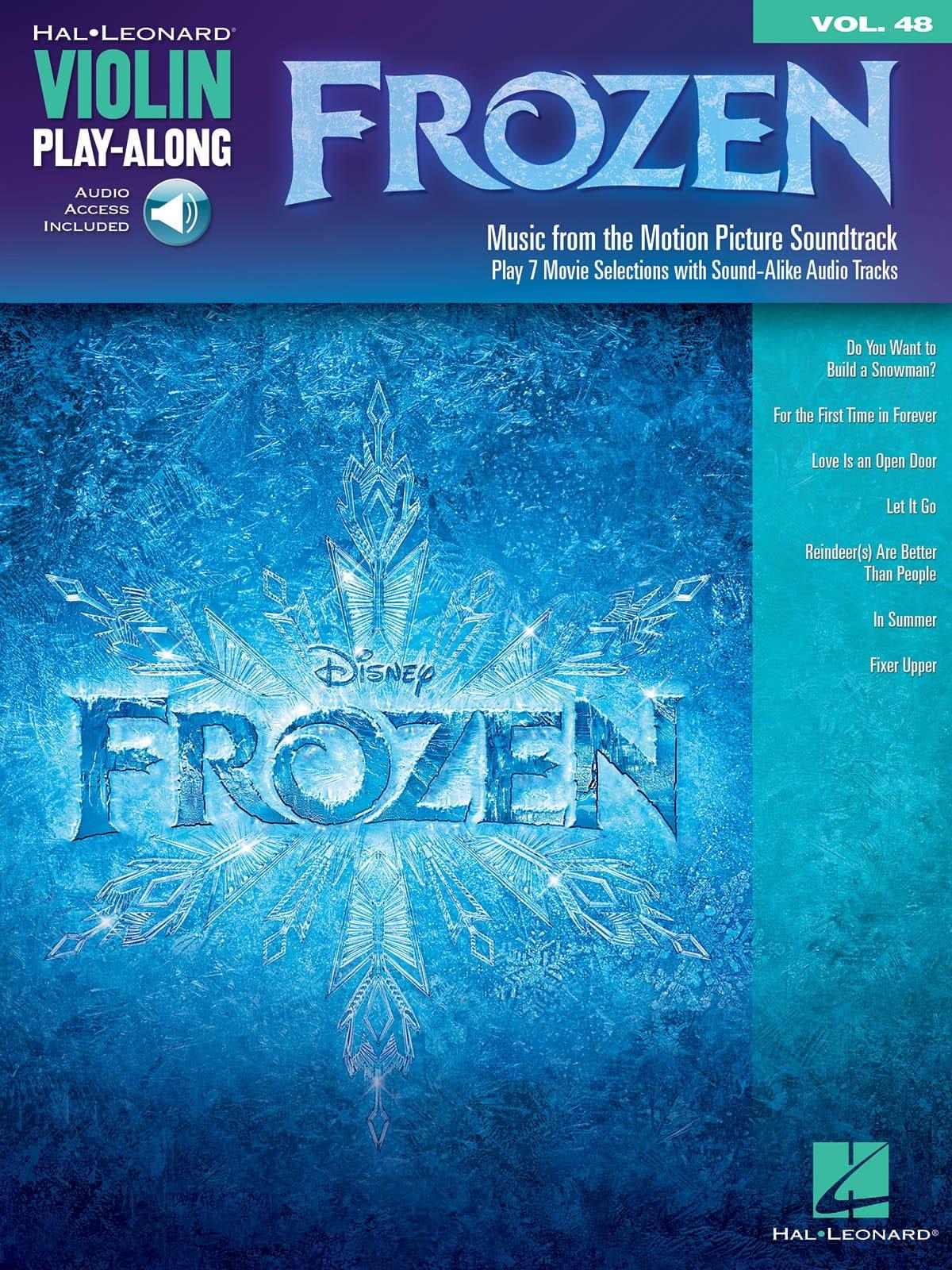 Violin Play-Along volume 48 - La Reine des neiges - laflutedepan.com