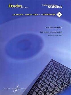 15 Etudes de concours Anthony Girard Partition Tuba - laflutedepan