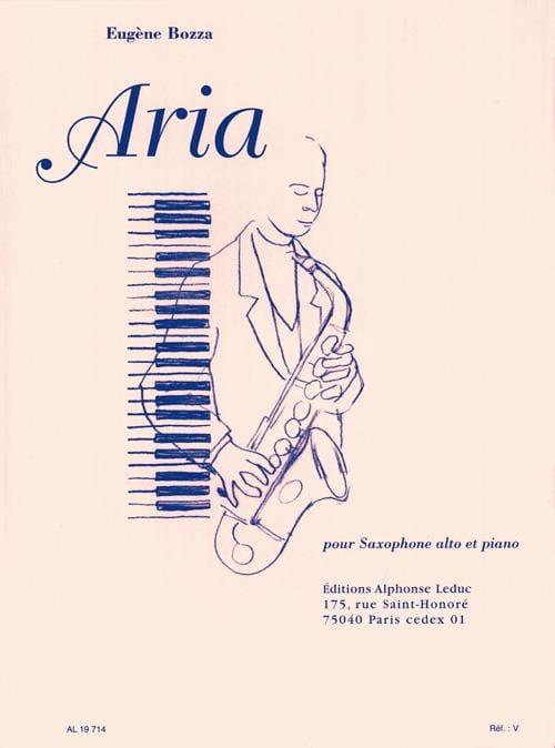 Aria - Eugène Bozza - Partition - Saxophone - laflutedepan.com