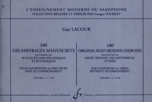100 Dechiffrages Manuscrits Volume 1 Guy Lacour Partition laflutedepan