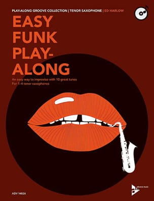 Easy Funk Play-Along Ed Harlow Partition Saxophone - laflutedepan