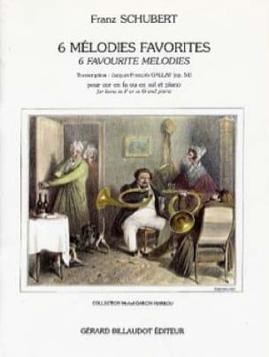 6 Mélodies Favorites Opus 51 - SCHUBERT - Partition - laflutedepan.com