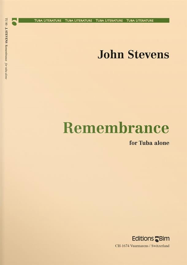 Remembrance - John Stevens - Partition - Tuba - laflutedepan.com