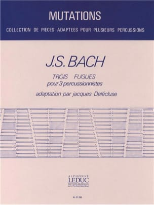 Trois Fugues BACH Partition Ensemble de percussions - laflutedepan