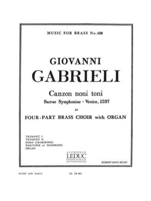 Canzon Noni Toni GABRIELI Partition Ensemble de cuivres - laflutedepan